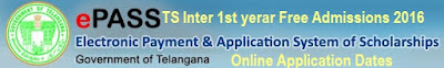 TS Inter free Admission in Corporate Colleges Online Apply 2018 Selection list