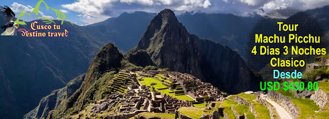 Excursion Machu Picchu 4 Dias