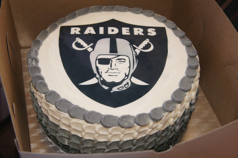 The Novice Goddess Kitchen Oakland Raiders Birthday Cake