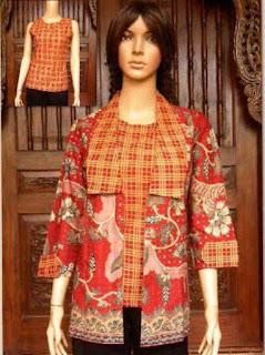 baju batik kerja wanita terbaru