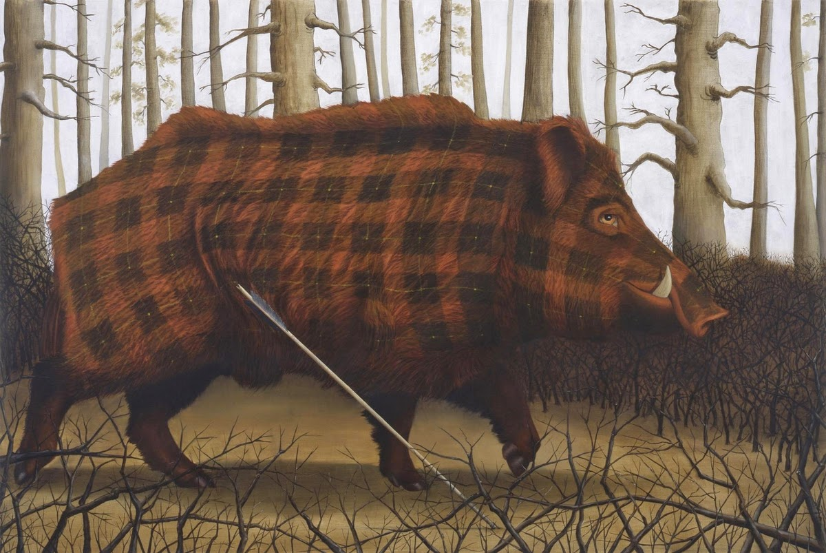 10-Sean-Landers-Animals-Coat-of-paint-in-Place-of-a-Coat-of-Fur-Paintings-www-designstack-co