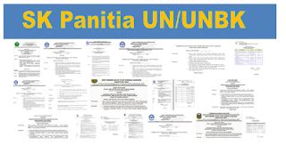 Contoh SK Panitia UN/UNBK SMP SMA 2020