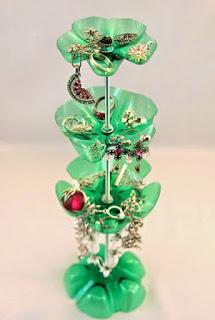 Kerajinan Tangan Tempat Perhiasan dari Botol Bekas
