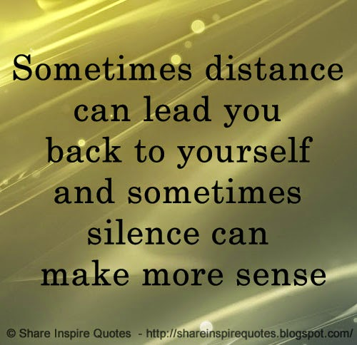 Make Sense Quotes: Sometimes Distance Can Lead You Back To Yourself And
