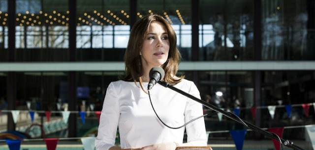 HRH Crown Princess Mary as patron of Danish Swimming gives a speech at the launch event in Kildeskovshallen