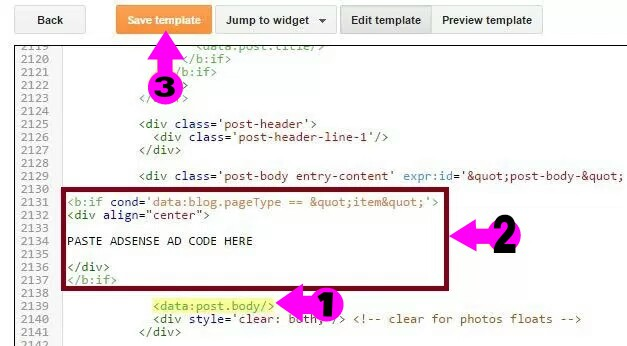 post template blogger code - blogger ki sabhi post me