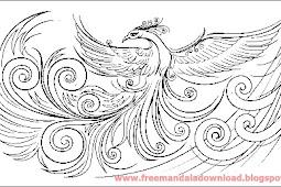 Phoenix tattoo mandala
