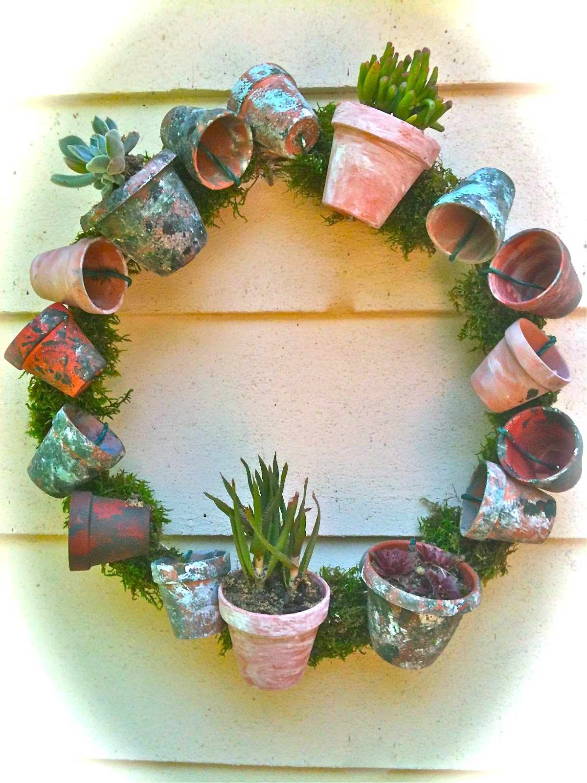 259 & everyday donna: How To Make Your Own Flower Pot Wreath To ...