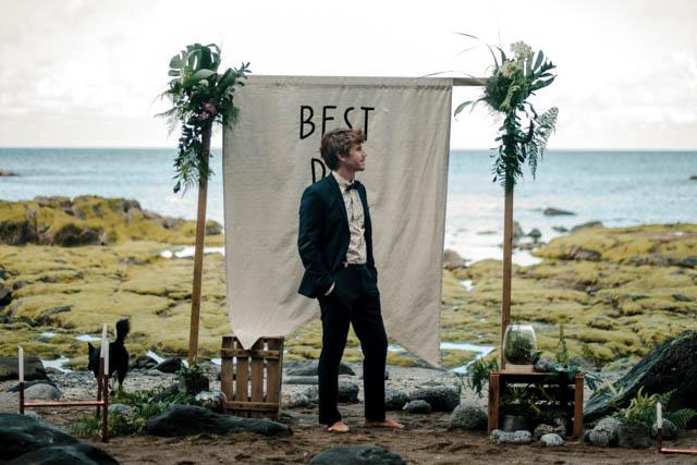 immacle vestido boho bohemio boda playa rocas salvaje ideas