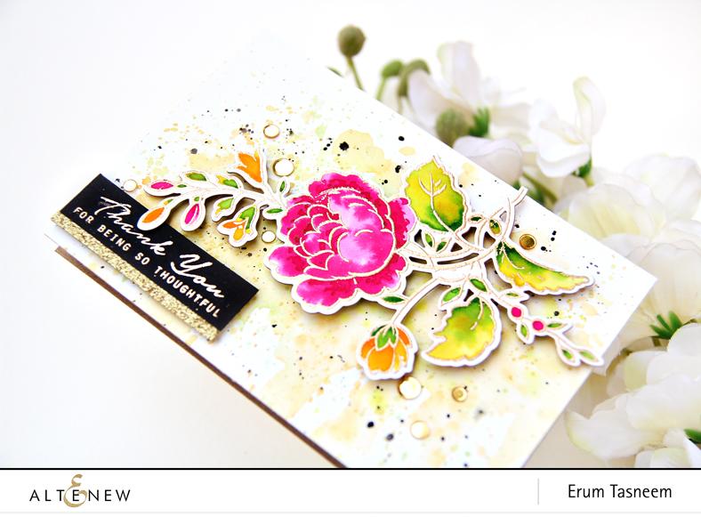 Altenew Handpicked Bouquet | Erum Tasneem | @pr0digy0
