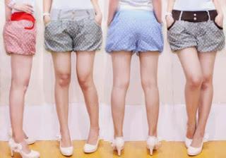 Model Celana Pendek Diatas Lutut