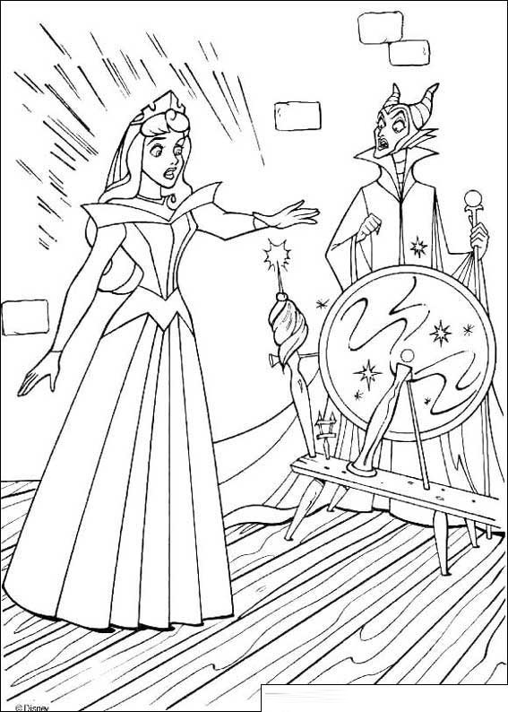 Princess Aurora Coloring Pages To And Print For adult | 794x567