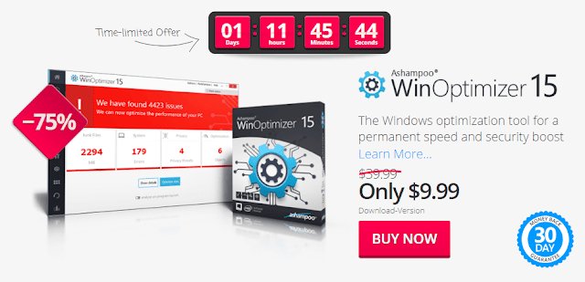 Ashampoo WinOptimizer 15 License Key Buy Now