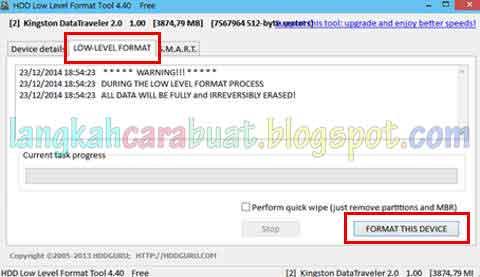 Cara Format Flashdisk Yang Write Protected