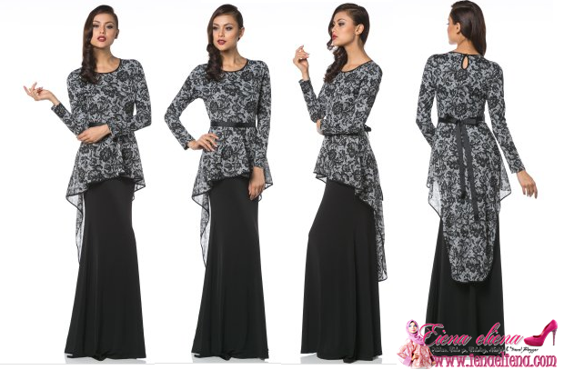 Variante GlamoRaya - Audrey Onyx Fishtail Dress