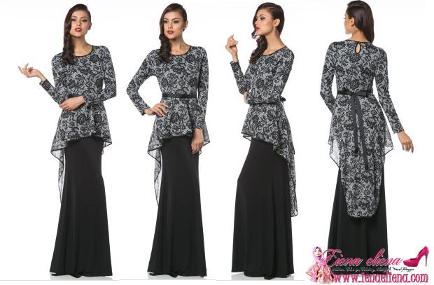 Variante GlamoRaya - Audrey Onyx Fishtail Dress