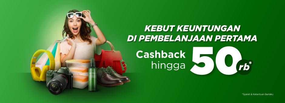Tokopedia - Promo Belanja Pertama Cashback s.d 50 Ribu (s.d 30 Nov 2018)