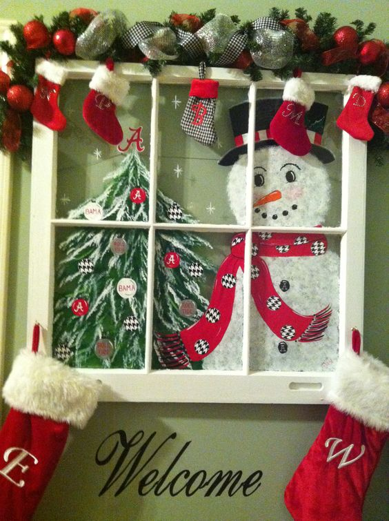 10 best holiday window decor ideas holidays blog for you for Christmas window decorations clearance