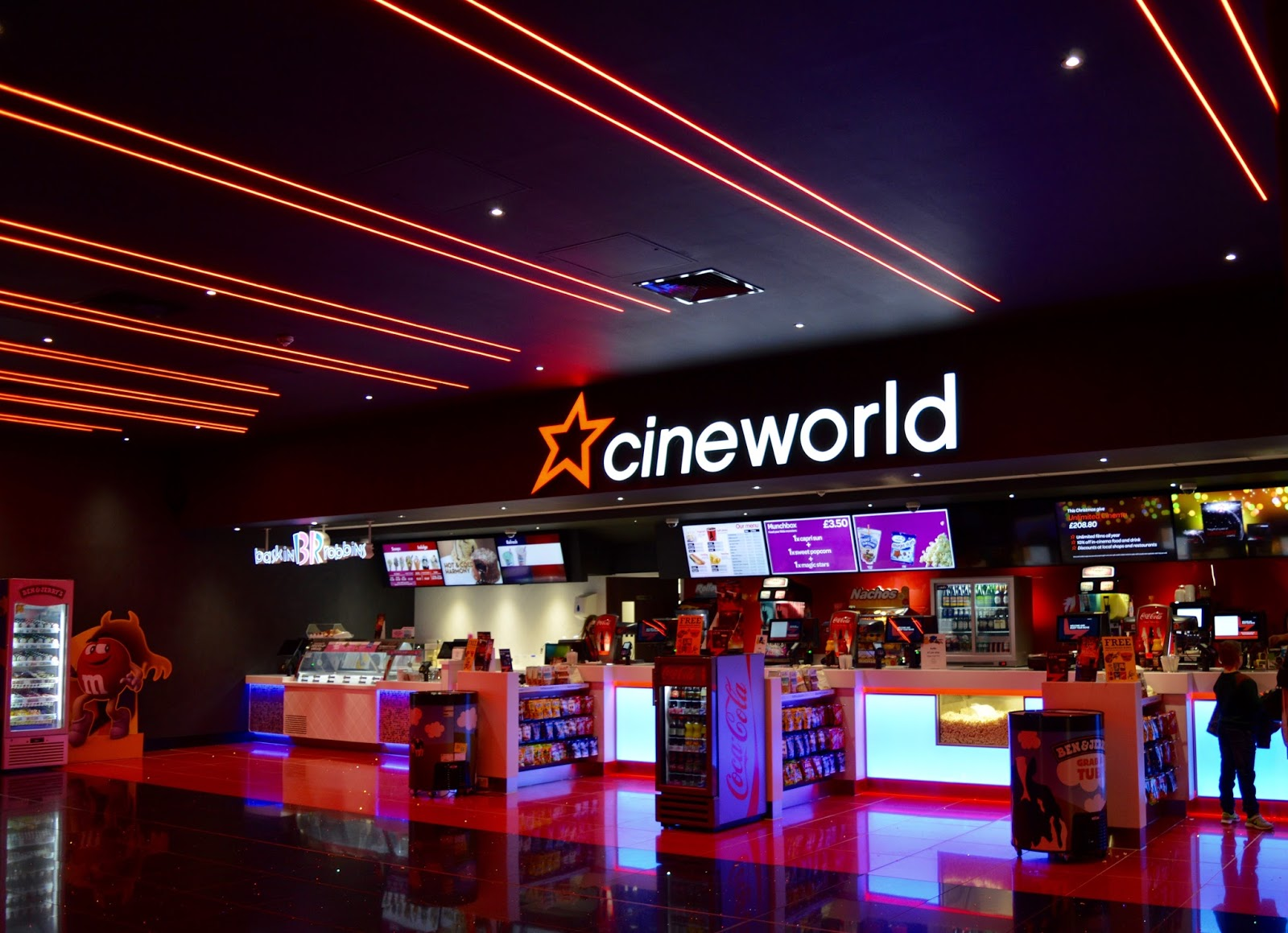 New Cineworld Cinema & Family Restaurants at Dalton Park Retail Outlet in County Durham (Just off A19) - Cineworld concessions