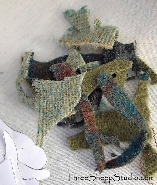 Wool snippets from Wool Applique