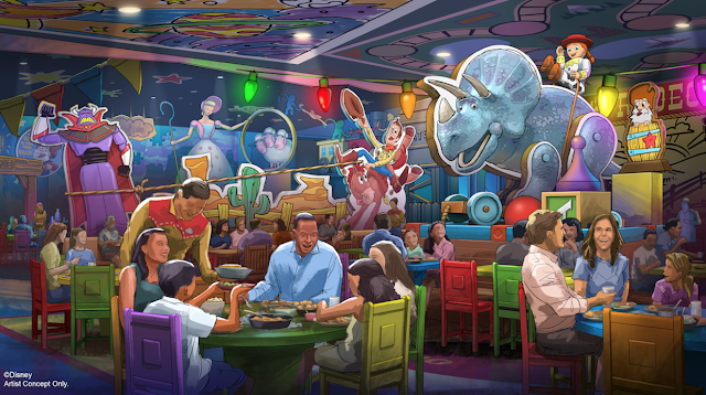 Toy Story Land table service restaurant