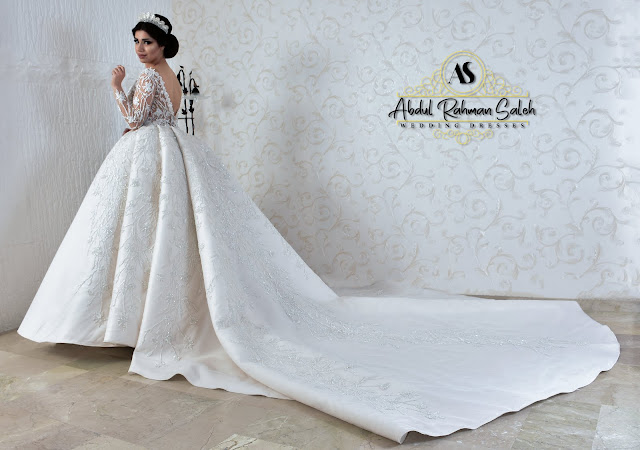 فستان زفاف من تصميم عبد الرحمن صالح