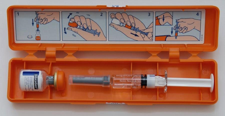 Kit de emergencia de glucagon
