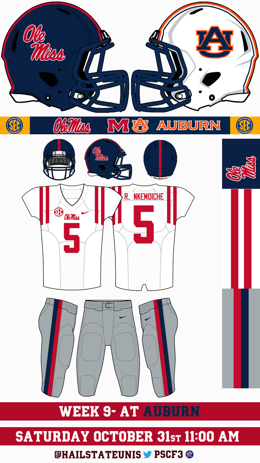 Ole Miss Uniform Tracker  October 2015 107ddabb8