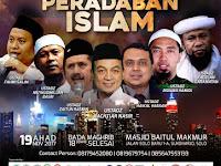 MIUMI Mempersembahkan Pemimpin Kebangkitan Peradaban Islam, Ahad 19 Nov 2017 di Solo