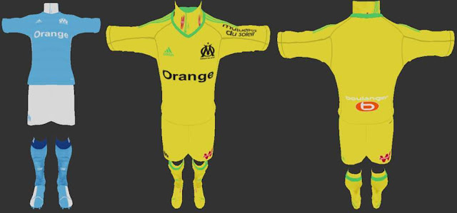Olympique Marseille 2017-18 Kit PES 2013