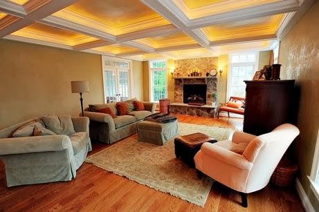 beams ceiling, cofferd ceiling with ligjting