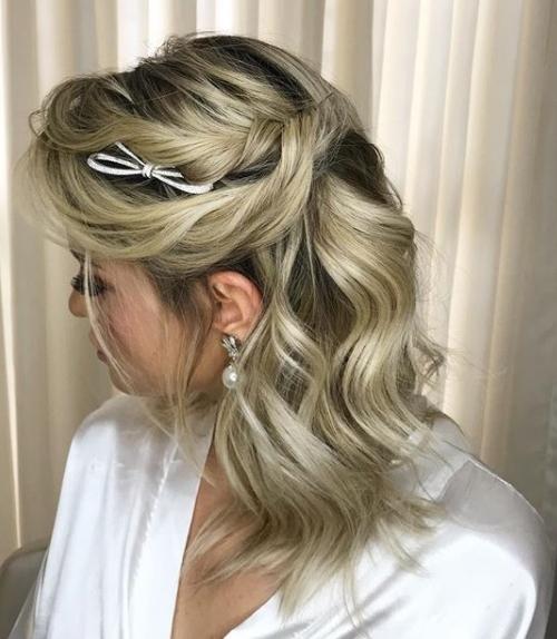 penteado de festa  long bob