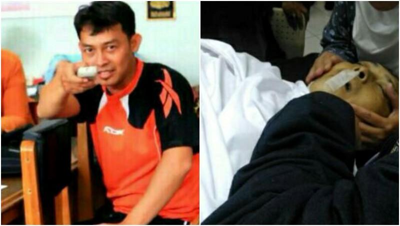 Tatang Wiganda, guru SMP YAS Bandung yang tewas ditusuk