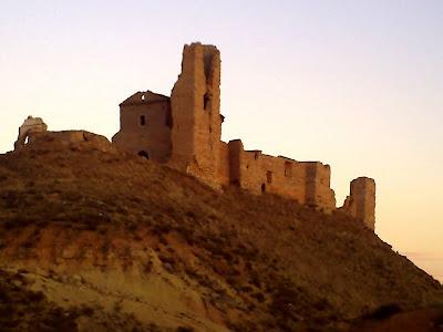 Castillo de la palma . Vista desde fuera del castillo .