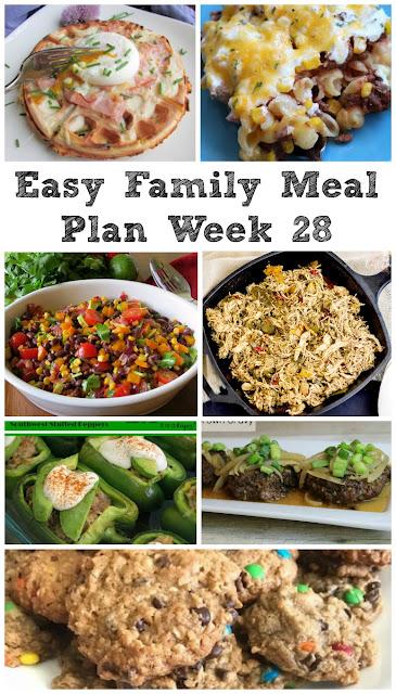 Easy Family Meal Plan Week 28