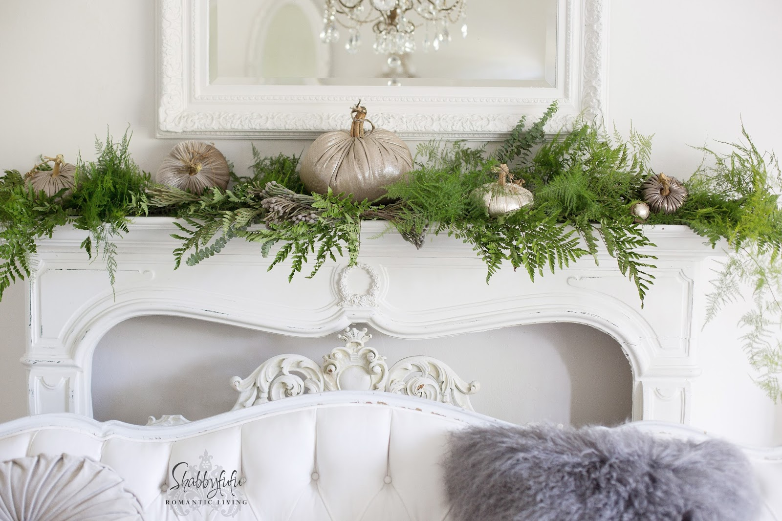 greenery on a mantel woodland decorating