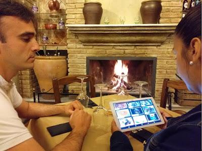 Carta digital en tablet
