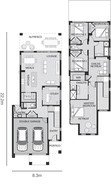 8 Metre Frontage House Designs