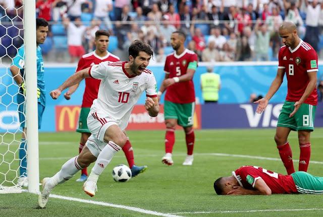 Marrocos volta a jogar quarta-feira (20), contra Portugal, no Estádio Olímpico Lujniki, às 9h. Já o Irã encara a Espanha, também na quarta (20), às 15h, na Arena Kazan