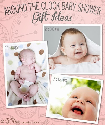 cfd34b22839e Around the Clock Baby Shower - Gift Ideas for the New Parents for Every Hour