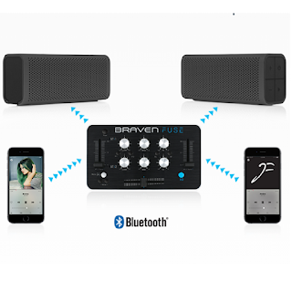 Une mini console de mixage Bluetooth.