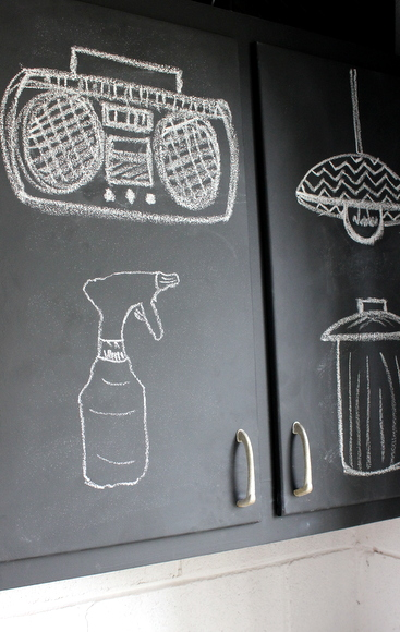 Chalk on Cabinets: Using Chalkboard Paint | DIY Playbook