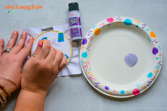 Painting Unicorn Designs on Hoops