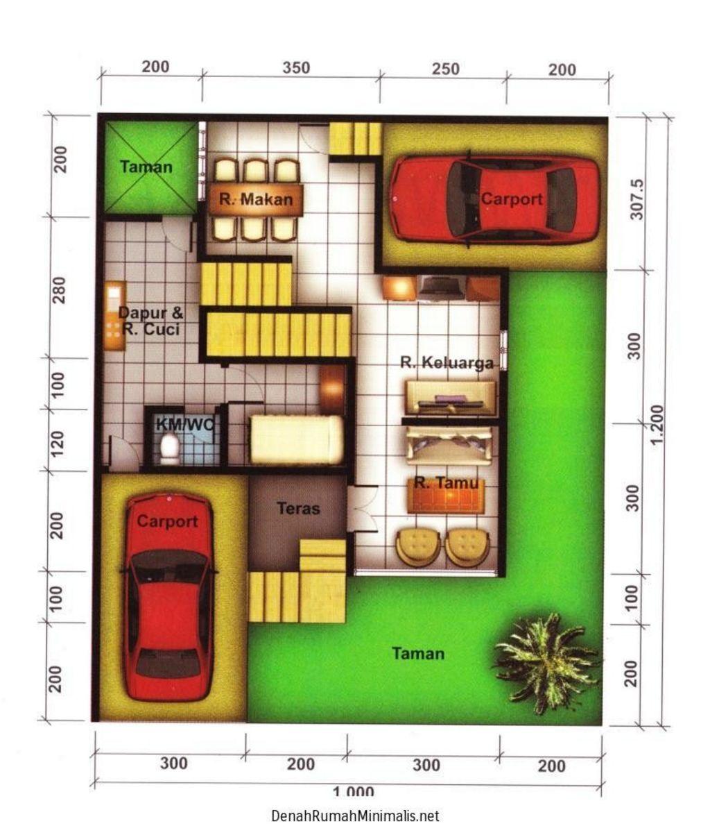 Rancangan Denah Rumah Hook 1 Lantai Terkini