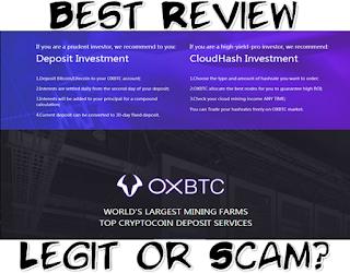 Review Legit or Scam Oxbtc Cloud Mining