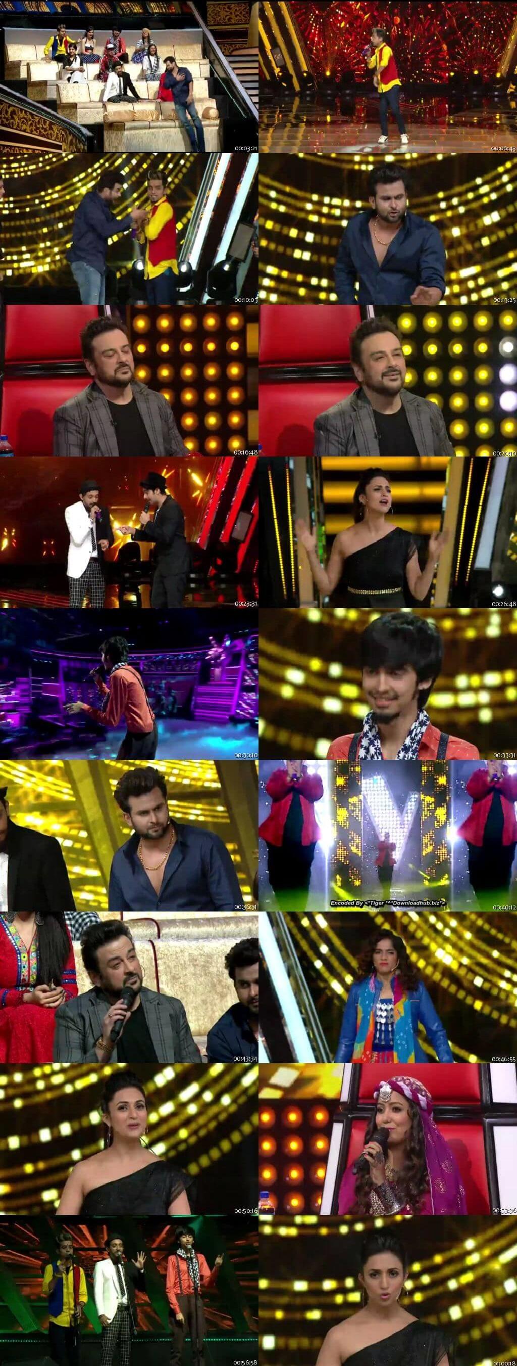 Screenshots Of Hindi Show The Voice 30th March 2019 Episode 16 300MB 480P HD