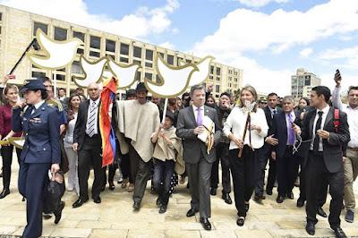 Colombian President Juan Manuel Santos, the peace president ...
