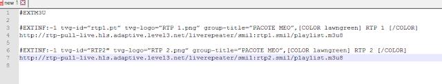 IPTV list code