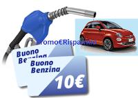 """Logo """"Il pulito di Chanteclair ha una marcia in più'' e ti regala buoni carburante (premio certo) e vinci 1 Fiat 500"""