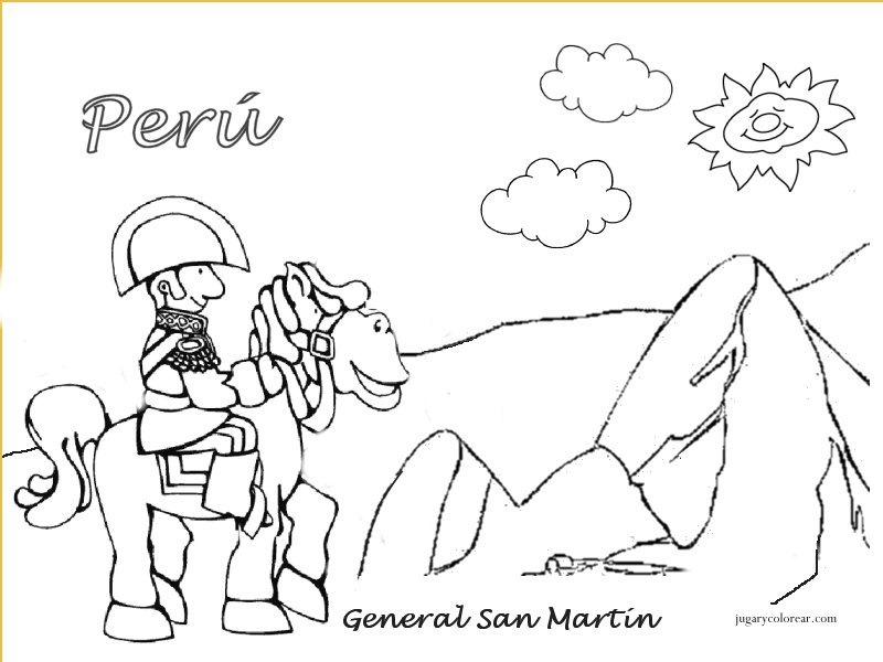 Dibujos Para Pintar De Fiestas Patrias Peru Archidev